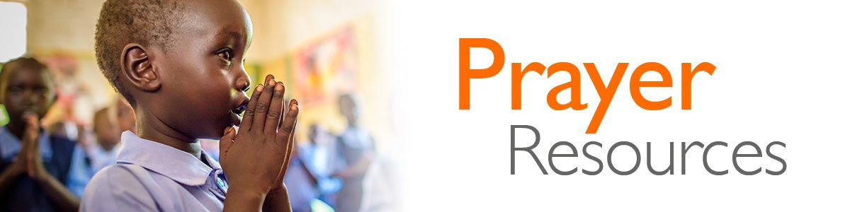 Prayer resources from World Vision