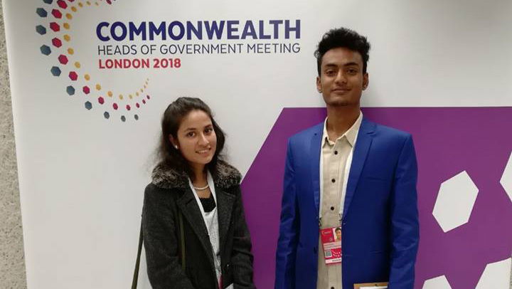 Tanzim Tabassum Tithi, World Vision Young Leader from Bangladesh, attends the Commonwealth Youth Forum in London.