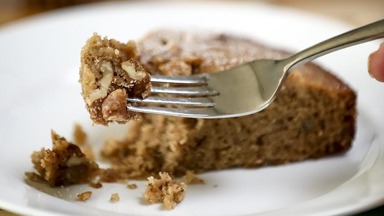 A slice of freshly-baked Armenian honey cake