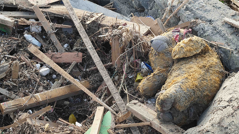 A lost teddy bear in the aftermath of Indonesia tsunami