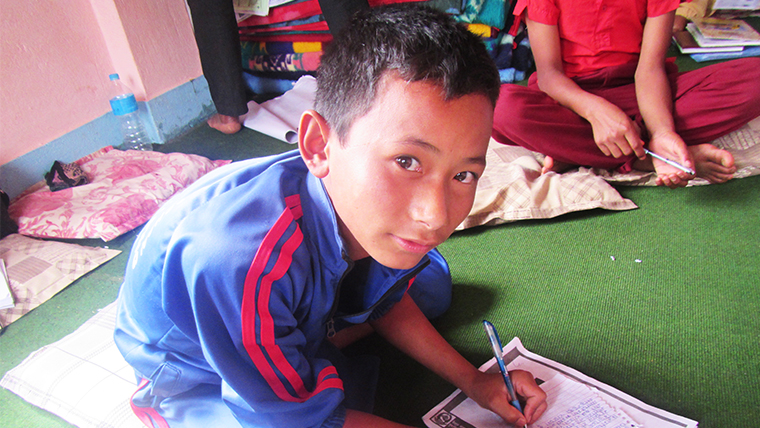 From earth-shaking to high-flying | Helping Nepal's children to stand up and move on