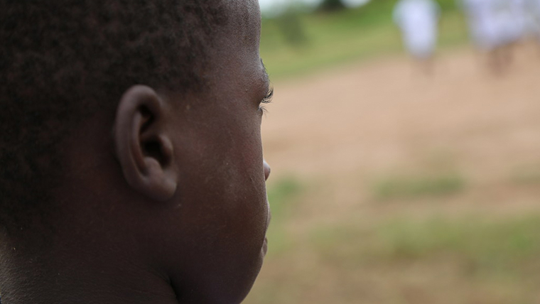 Ngala, a former child soldier in the DRC who is now being helped by World Vision