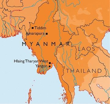 Map of Myanmar
