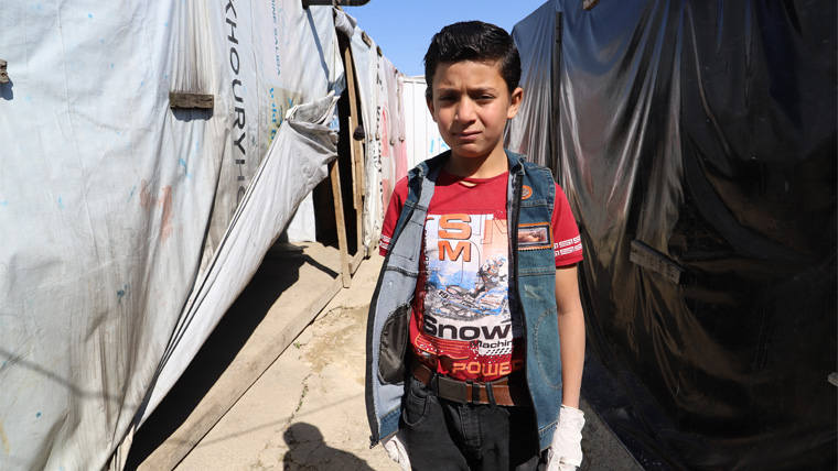 Hussein, 14, has already fled bombs in Syria. Now COVID-19 threatens.