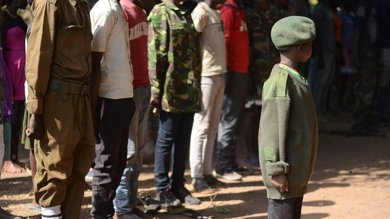 Child soldiers in warzones