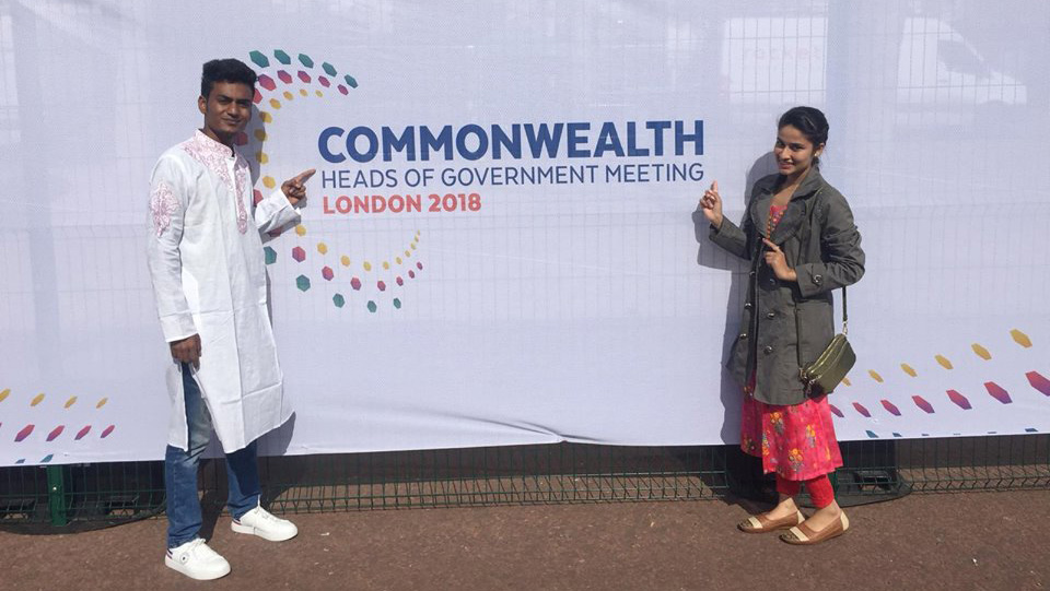 Al-Amin and Tanzim spent one week in London, where they took part in the Youth Commonwealth Forum.