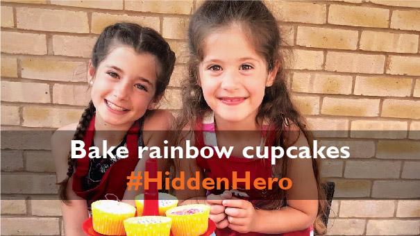 Bake rainbow cupcakes