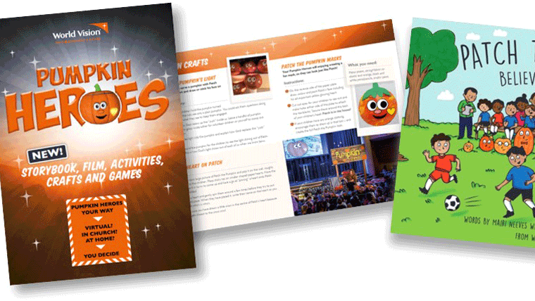 Image of the Pumpkin Heroes 2020 activity pack