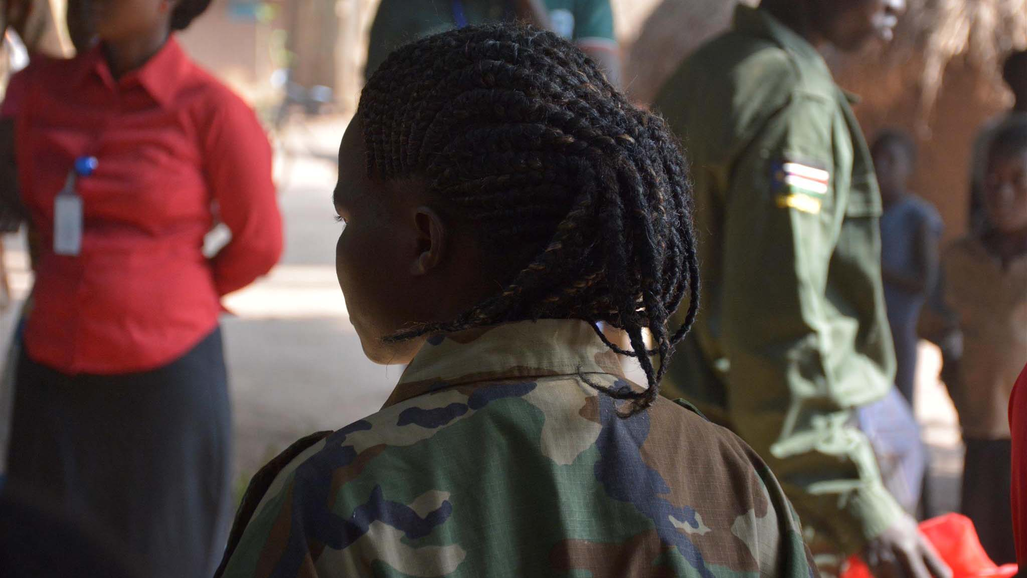 A former child soldier pictured in the DRC.