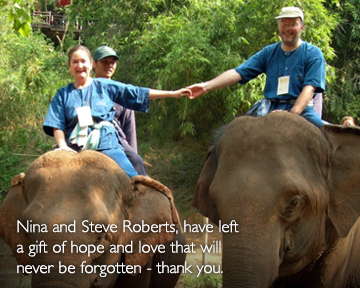 <small>Leaving Hope to the World - Nina and Steve Roberts' gift</small>