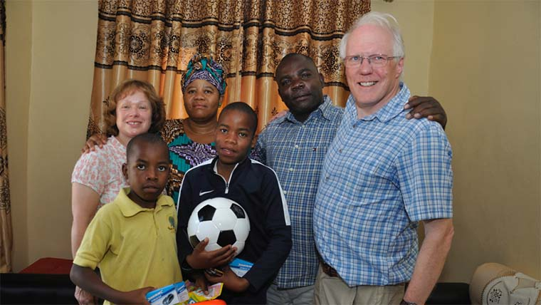 Child sponsor Angela Farries and Gloria in Tanzania