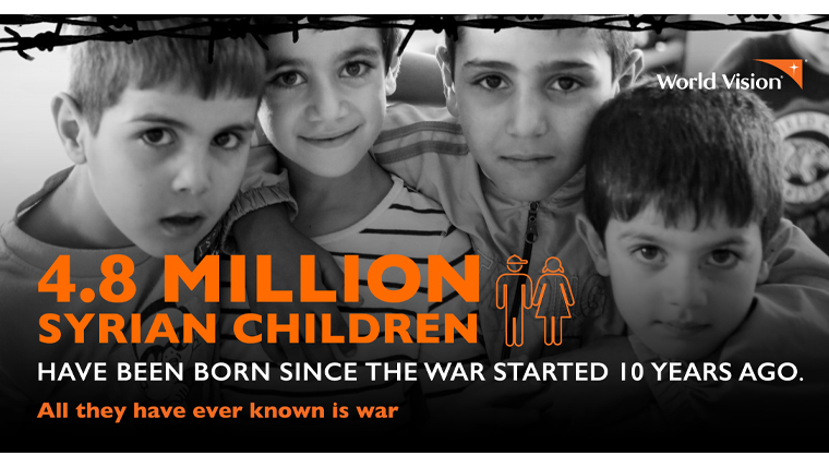4.8 million Syrian children have been born, knowing nothing but war.