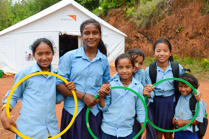 Nepal children Child Friendly Space World Vision