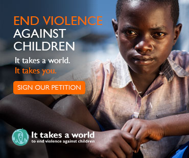 It takes a world to end violence against children - sign our petition