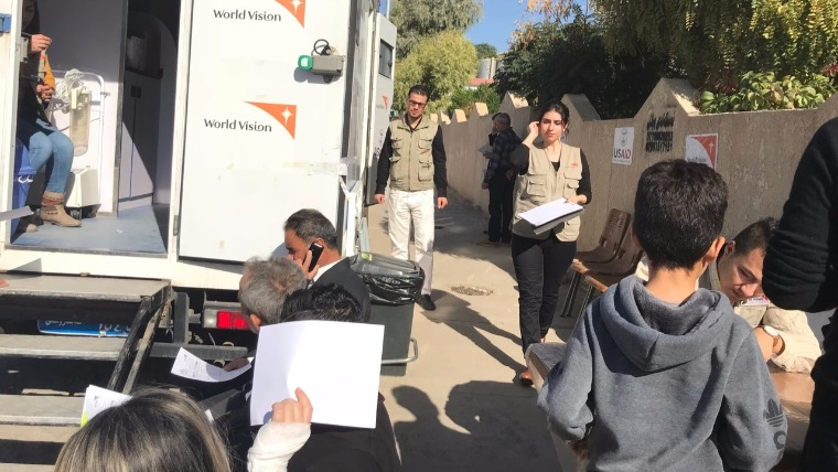 World Vision - Iraq mobile clinic