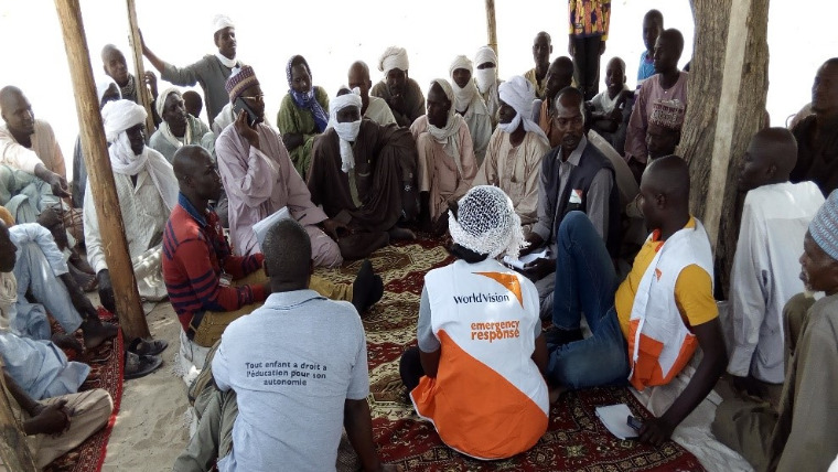 WV Chad team in meeting with local leaders