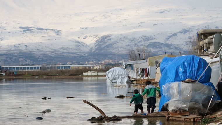 70,000 Syrian refugees suffer as storms batter Lebanon