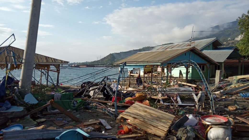 The scene in Palu, Indonesia after a 7.5-magnitude earthquake triggered a tsunami.