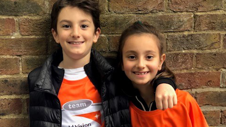 Kamran, 9, and his sister, Sophia, 7, decided to help vulnerable children with a charity run