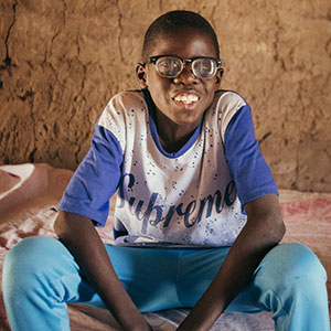 Boubacar is able to go to school now