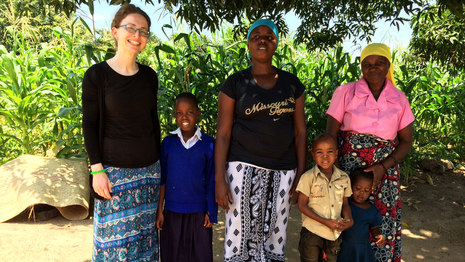Elizabeth Bowes visits the family of her sponsored child in Tanzania.