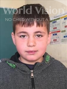 Choose a child to sponsor, like this little boy from Shkodra, Ardis age 10