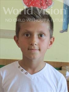 Choose a child to sponsor, like this little boy from Shkodra, Endri age 8