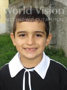 Choose a child to sponsor, like this little boy from Shkodra, Ornel age 7