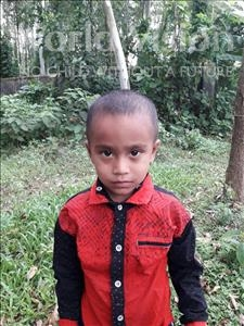 Choose a child to sponsor, like this little boy from Ghoraghat, Arif Hasan age 3