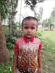 Choose a child to sponsor, like this little boy from Ghoraghat, Md Rifat age 3