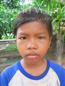 Choose a child to sponsor, like this little girl from Soutr Nikom, Sreypin age 10