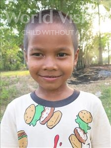Choose a child to sponsor, like this little boy from Soutr Nikom, Sothy age 6