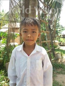 Choose a child to sponsor, like this little boy from Soutr Nikom, Bunrong age 7