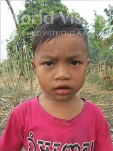Choose a child to sponsor, like this little boy from Soutr Nikom, Sovanny age 4