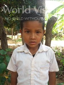 Choose a child to sponsor, like this little boy from Soutr Nikom, Sim age 7