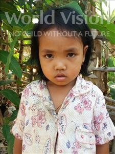 Choose a child to sponsor, like this little girl from Soutr Nikom, Rachana age 5