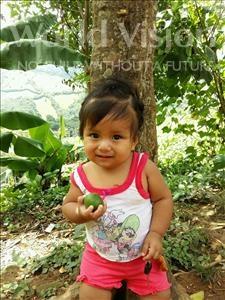 Choose a child to sponsor, like this little girl from Maya, Estefani Jimena age 1