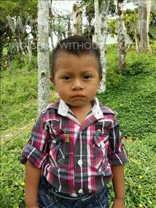Choose a child to sponsor, like this little boy from Maya, Edilson Isidro age 2