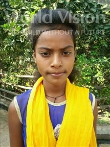 Choose a child to sponsor, like this little girl from Bhojpur, Rishaw age 12