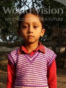 Choose a child to sponsor, like this little boy from Bhojpur, Sagar age 7