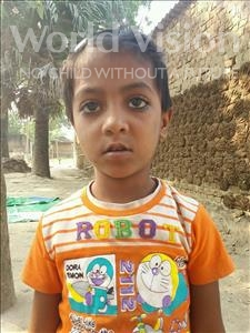 Choose a child to sponsor, like this little girl from Bhojpur, Saloni age 6