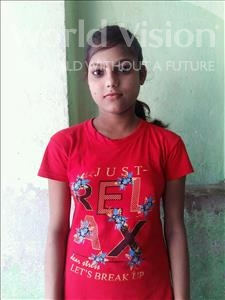Choose a child to sponsor, like this little girl from Patna, Puja age 13