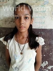 Choose a child to sponsor, like this little girl from Patna, Saraswati age 11