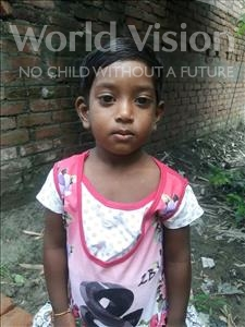 Choose a child to sponsor, like this little girl from Vaishali, Anamika age 3