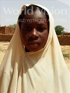 Choose a child to sponsor, like this little girl from Sirba, Saratou age 9