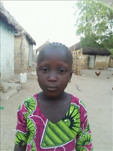 Choose a child to sponsor, like this little girl from Mbella, Saly age 6