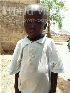 Choose a child to sponsor, like this little boy from Mbella, Abdou age 5