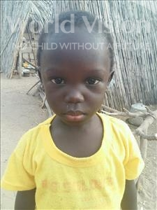 Choose a child to sponsor, like this little girl from Loul, Veronique Adama age 3