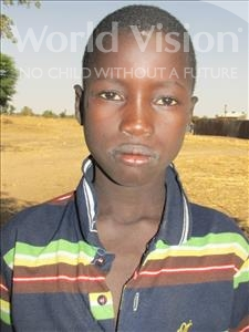 Choose a child to sponsor, like this little boy from Loul, Seny age 8