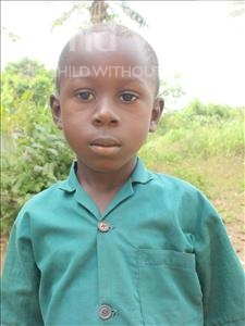 Choose a child to sponsor, like this little boy from Tegloma, Alusine age 5